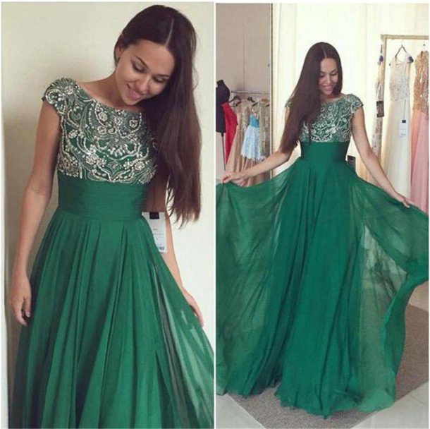 Green Prom Dress Prom Dresses Evening Party Gown Formal Wear On Storenvy