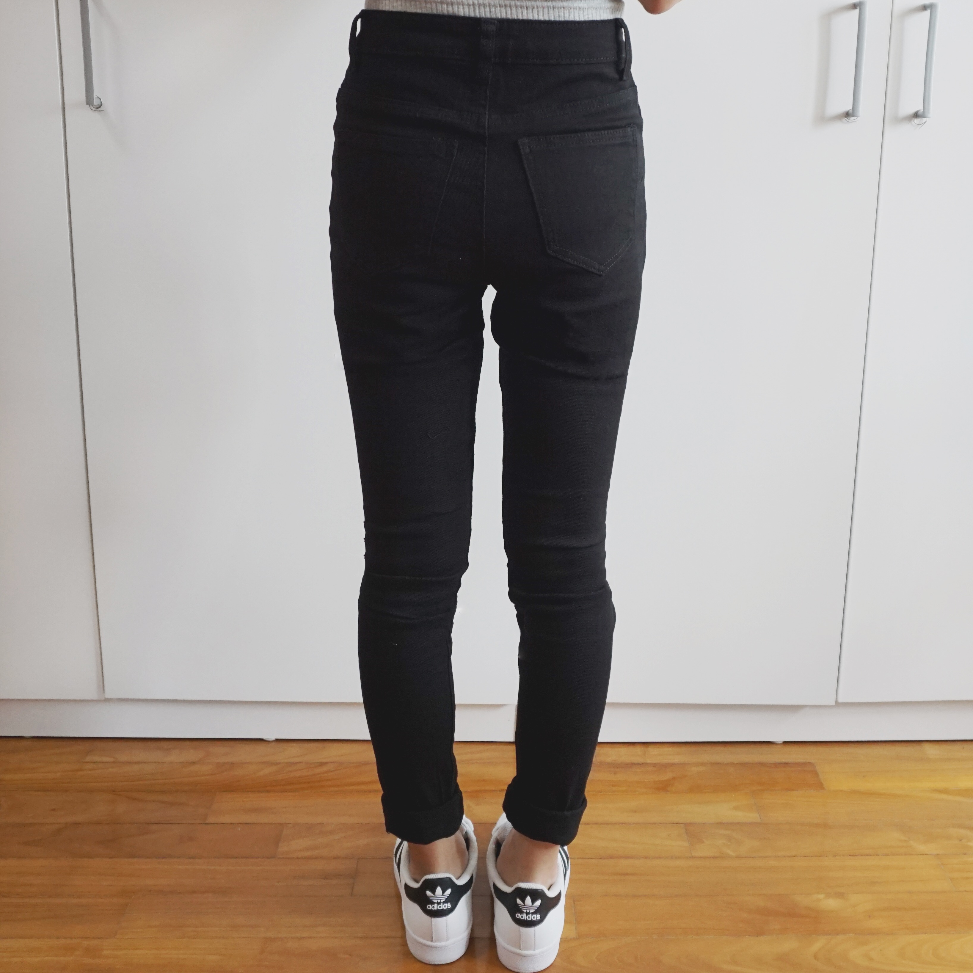 fe382a7d264 Destroyed Ripped High Waist Skinny Jeans (Black) · Megoosta Fashion ...