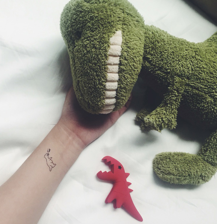 5 Cute Baby Dinosaur Temporary Tattoo Triceratops