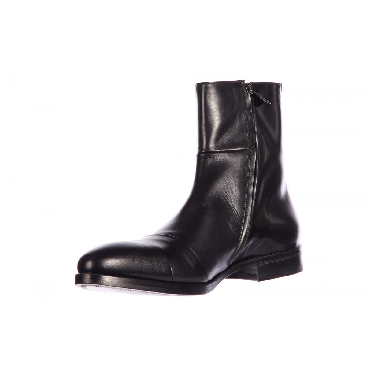 Handcrafted Men S Fashion Black Side Zipper Boot Men