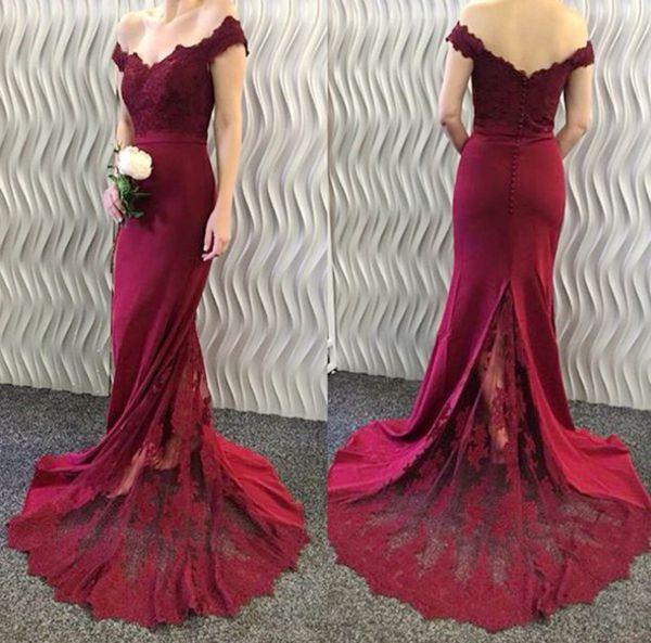 f0ce754cd9 Mermaid lace off shoulder long prom dress