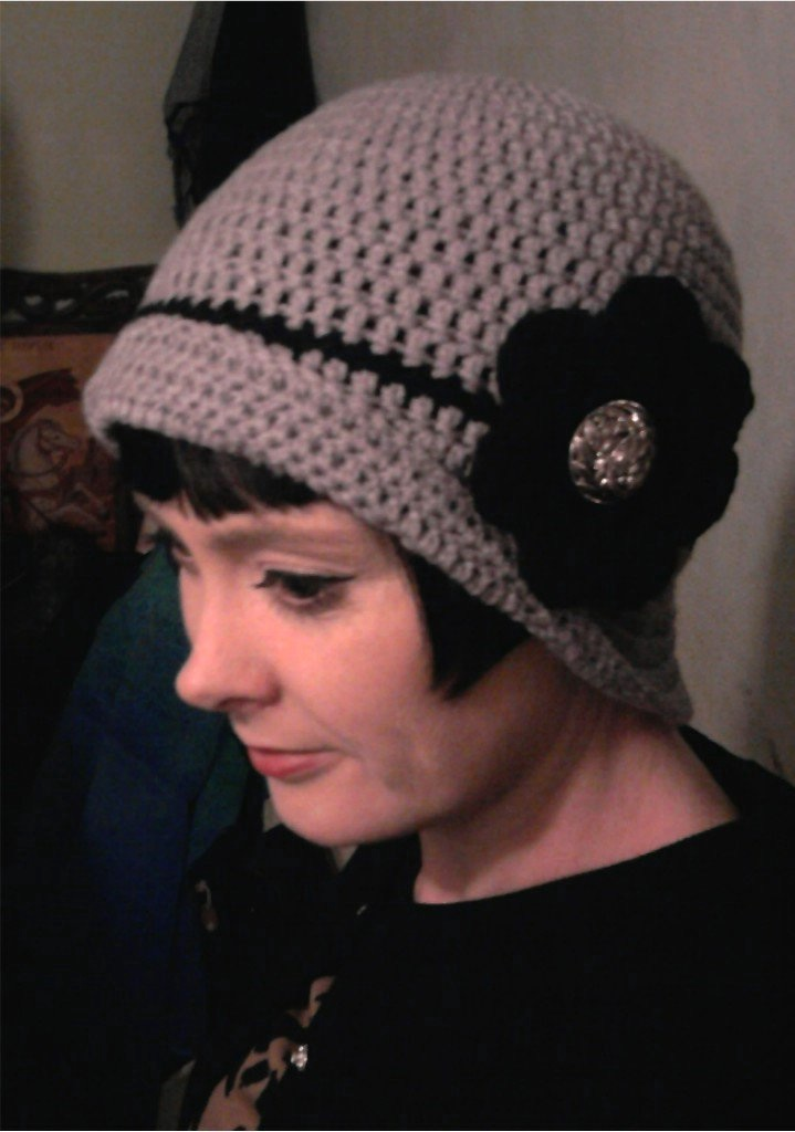 IRISH 20\'s style cloche hat crochet/grey £15 on Storenvy