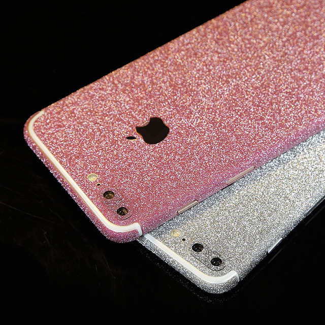the latest b3855 5ff22 Pink Glitter Sticker Skin iPhone 7 iPhone 7 Plus
