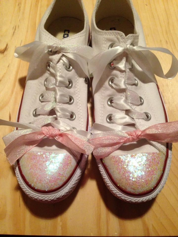white converse glitter toe