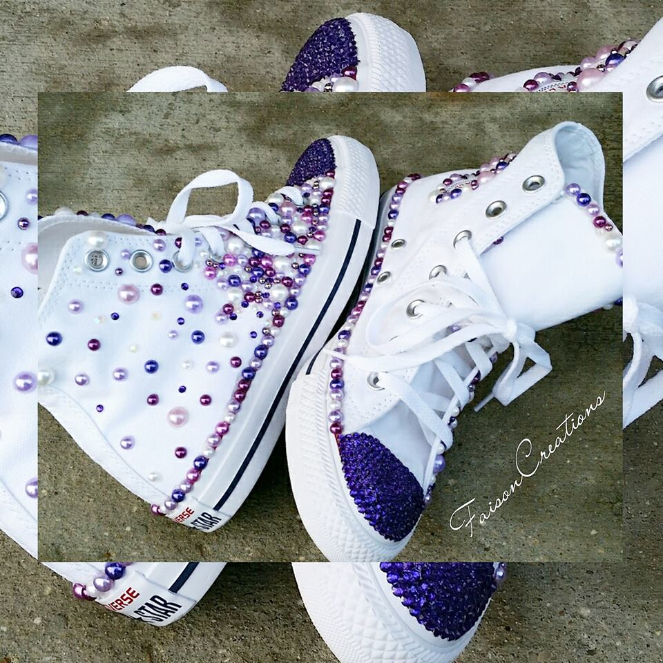 1052992dabfb Adult Custom Bling Converse (High Top) · FaisonCreations · Online ...