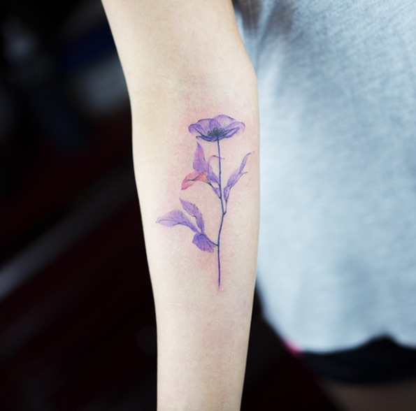 X Ray Flower Tattoo Violet Temporary Tattoo Chowmii Online