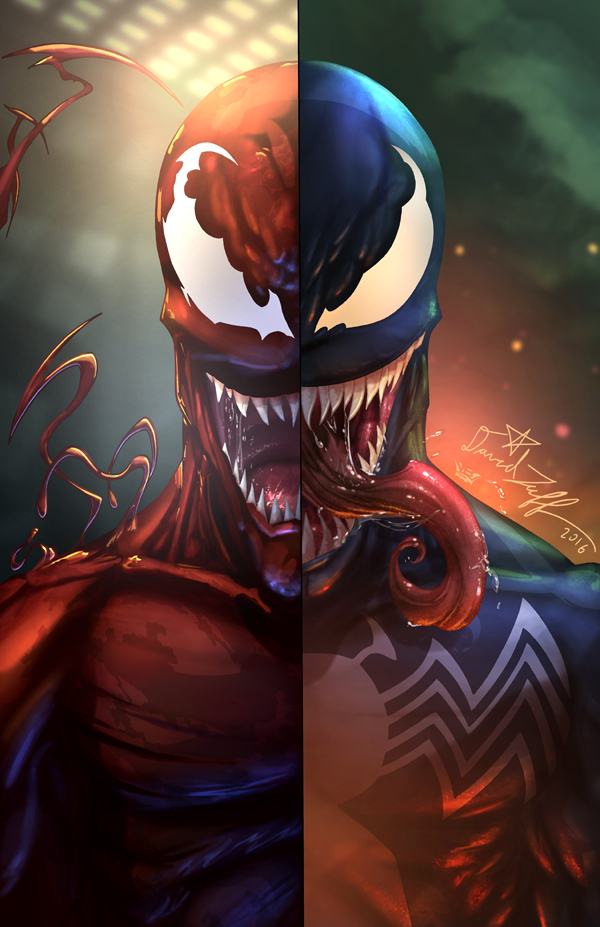 carnage venom art print hectic online store powered by storenvy