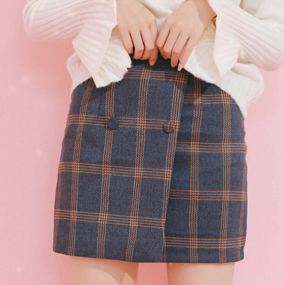 9cffabd84639 Double-breasted Plaid Skirt on Storenvy