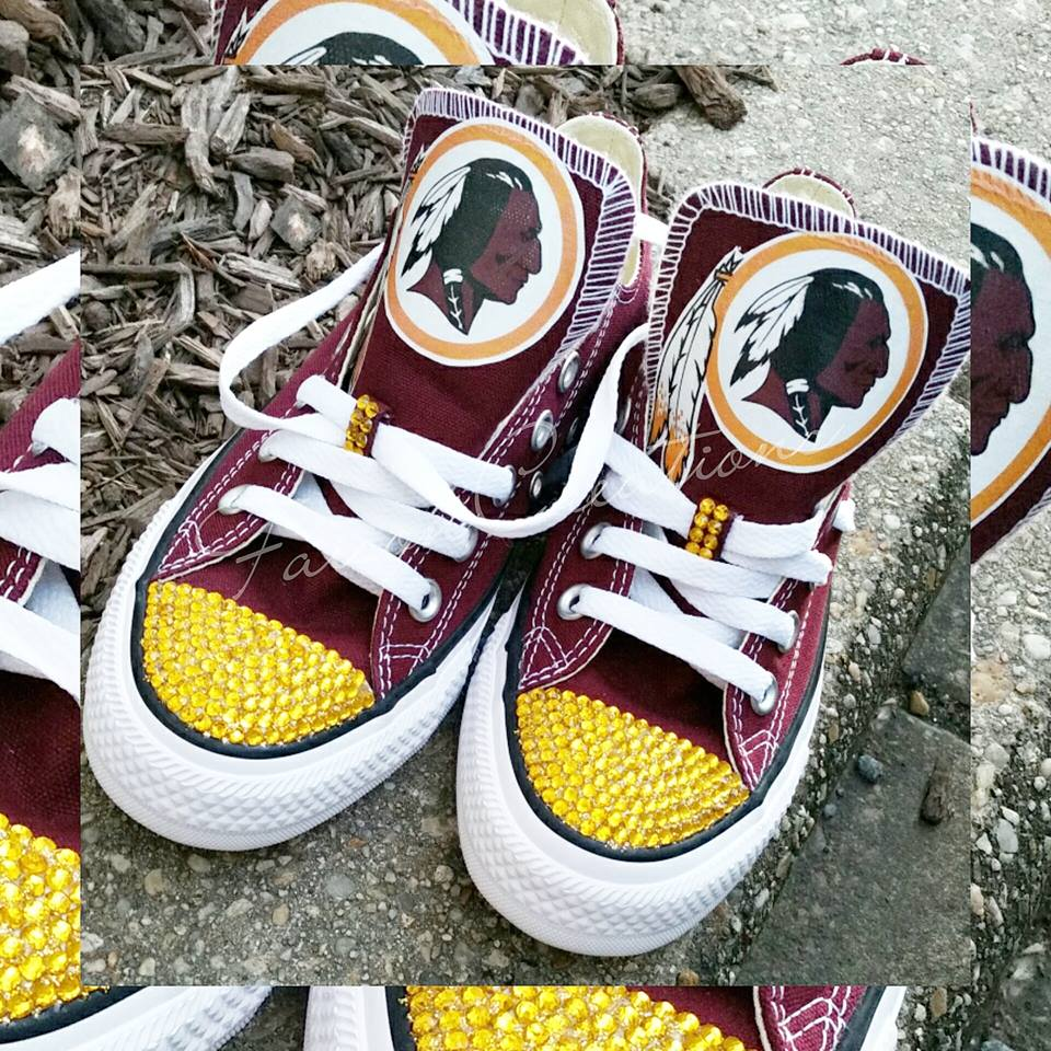 7cbc252016c0 Custom Low Top Redskins Converse on Storenvy