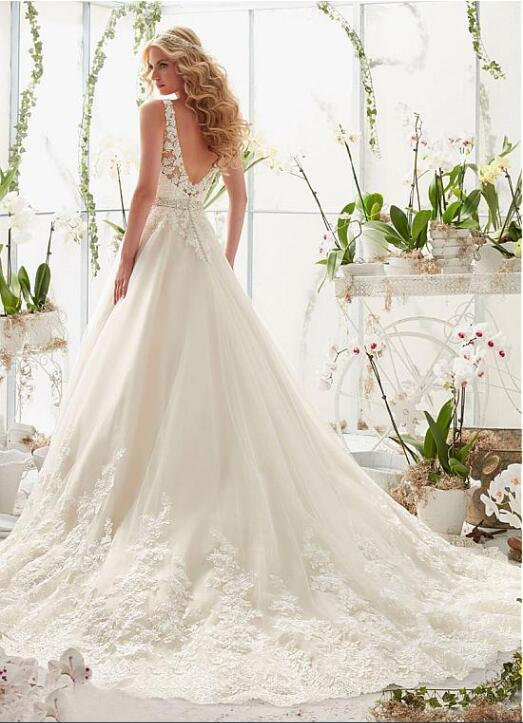 Beaded a Line Wedding Dress