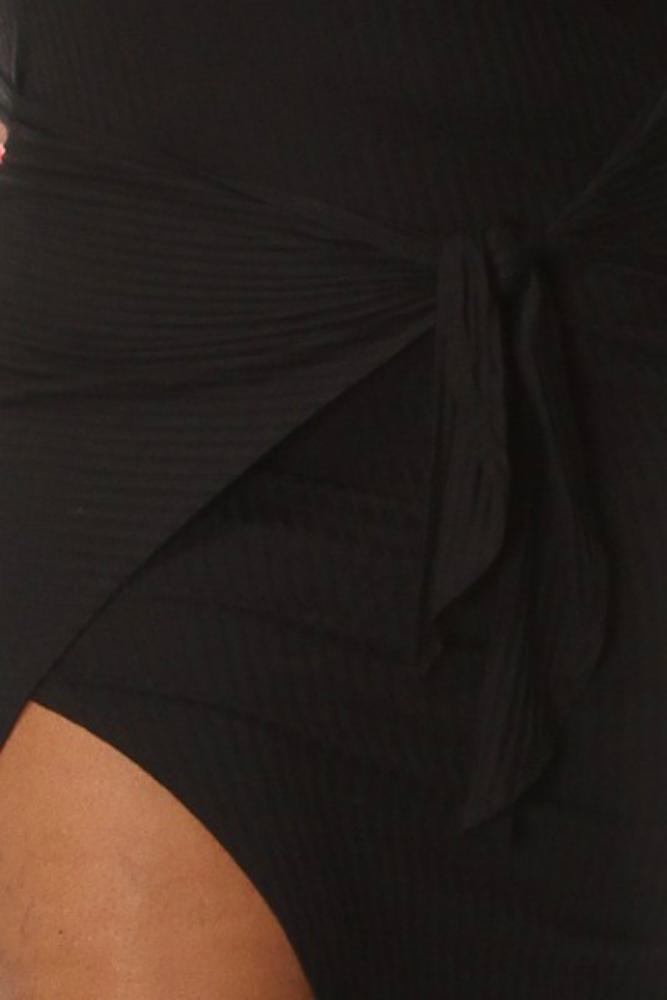 b43c4bd41160b Plus Size Tube Top Front Tie Bodycon Dress Black on Storenvy