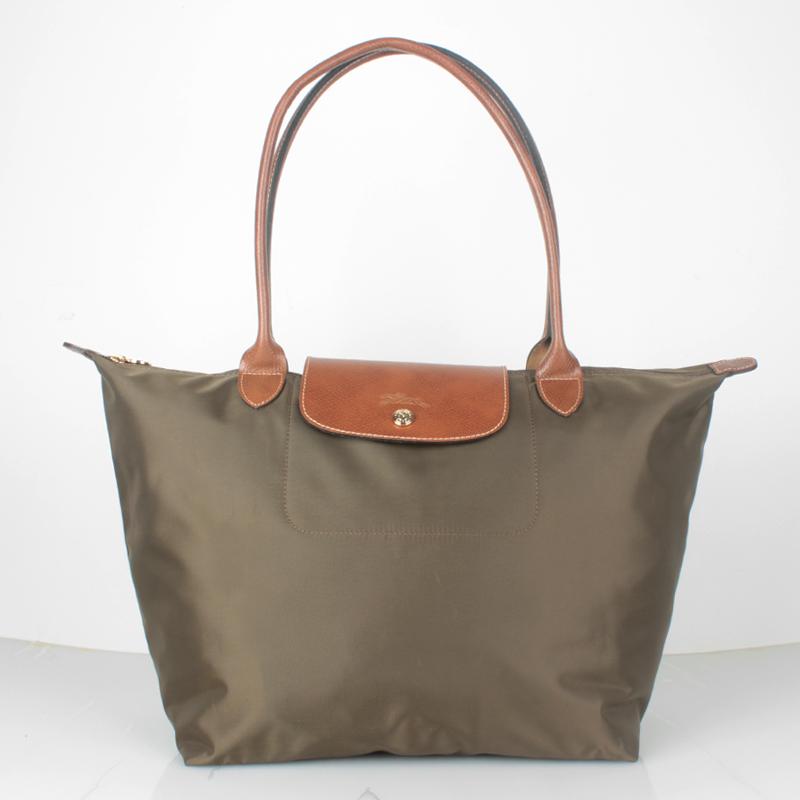 Authentic Longchamp Le Pliage Nylon Large Tote Bag Taupe 1899089015 ... e49a51094b905