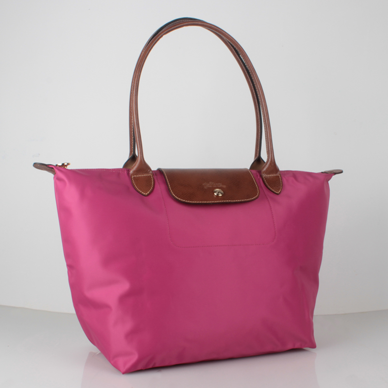 Authentic Longchamp Le Pliage Nylon Large Tote Bag Fuchsia ... 91a491c54d80c