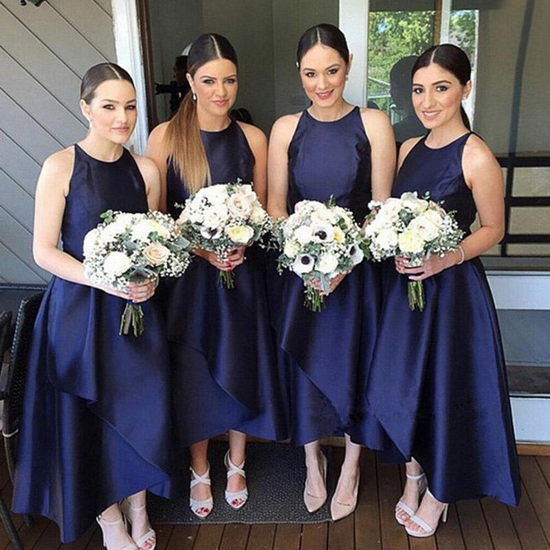 89463d228fc font b bu b font elegant navy blue bridesmaid dresses font b hot b font  original