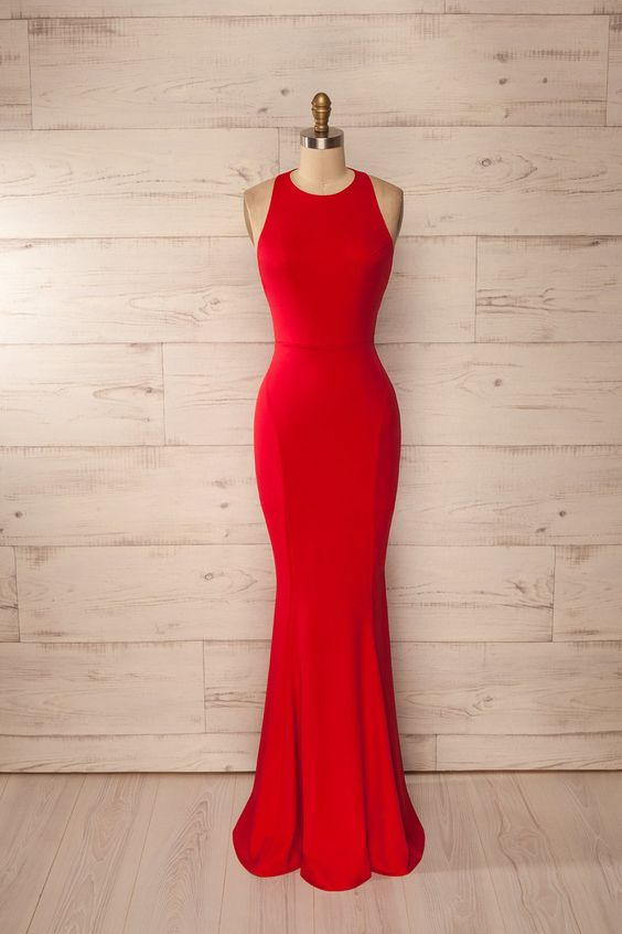 New Mermaid Red Prom Dresselegant Prom Dresslong Prom Dresses