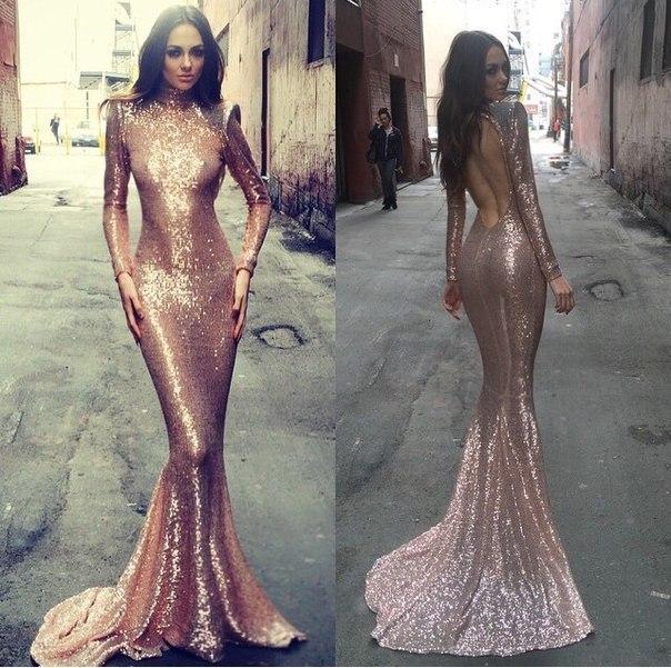 Sequin prom dress, long prom dresses, open back prom dress, mermaid ...