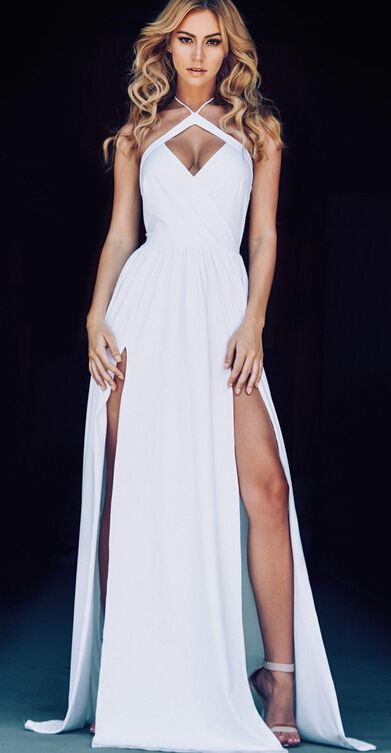 Sexy all white party dresses