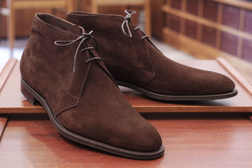 brown laceup suede leather boot on Storenvy