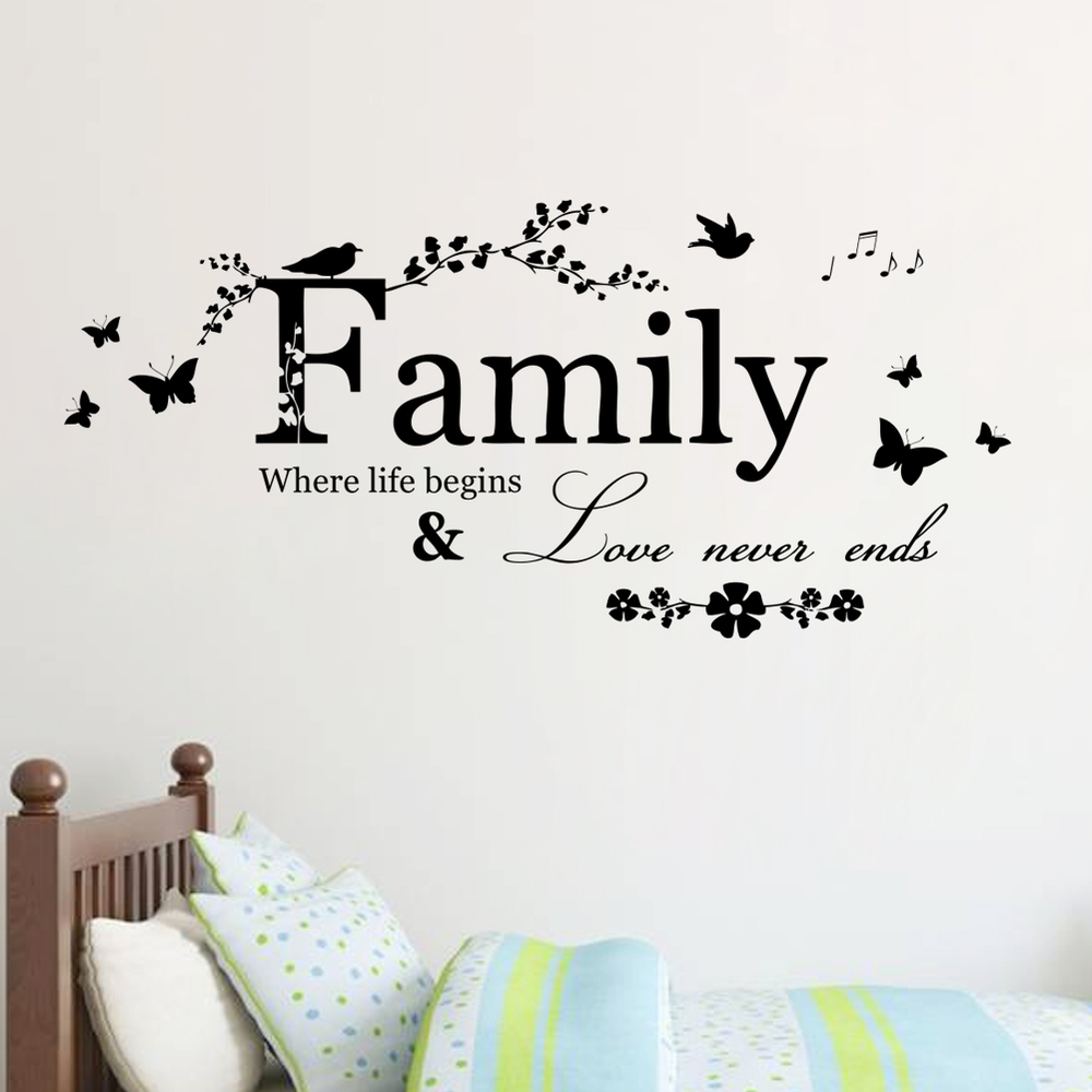 Art Family Home Decor Creative Quote Wall Decals Decorative