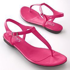 chaps brand fuchsia sandals 8.5 sold