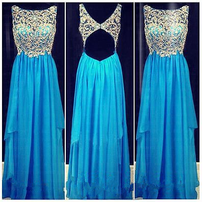 2017 Backless Prom Dresses,Cute Rhinestones Open Back ...
