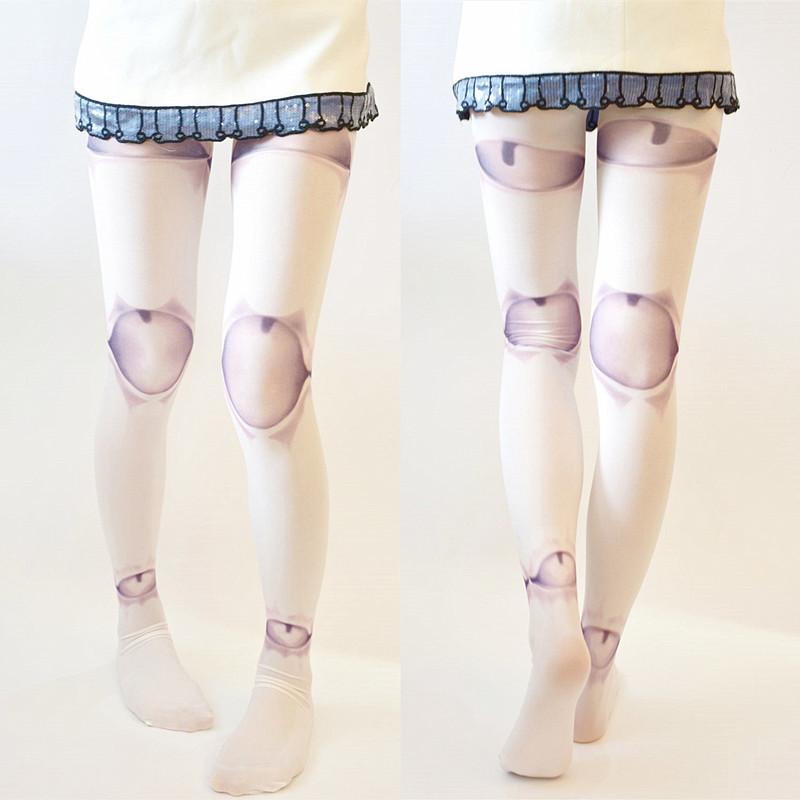 Harajuku Puppet Ball-joint Doll Tattoo Tights Pantyhose on ...