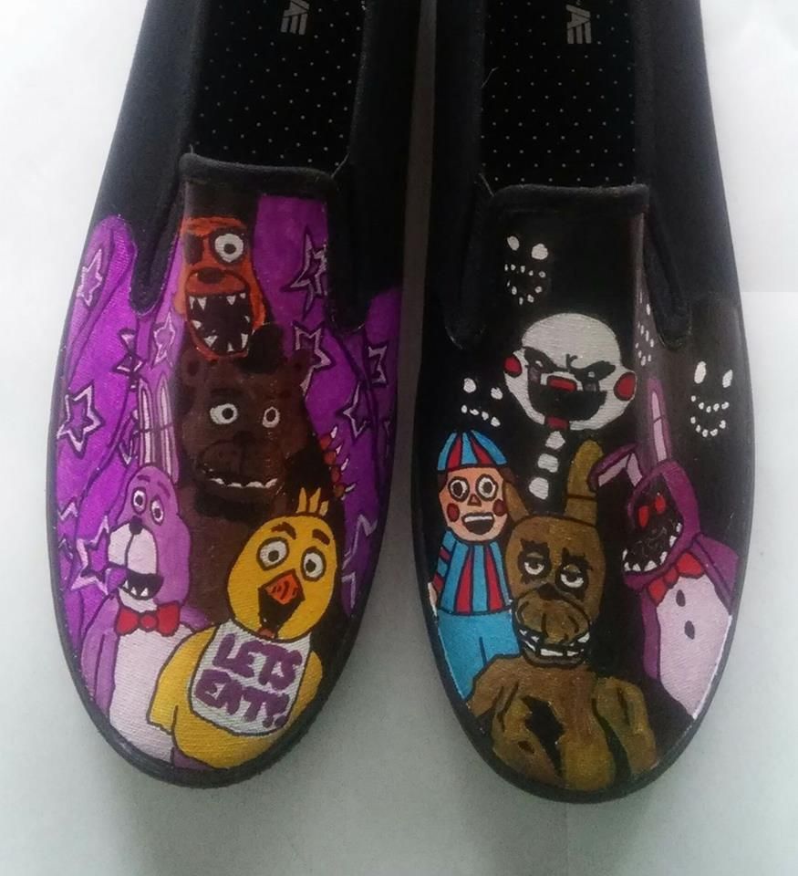 Five Nights at Freddy's hand painted shoes from Heart and Soles