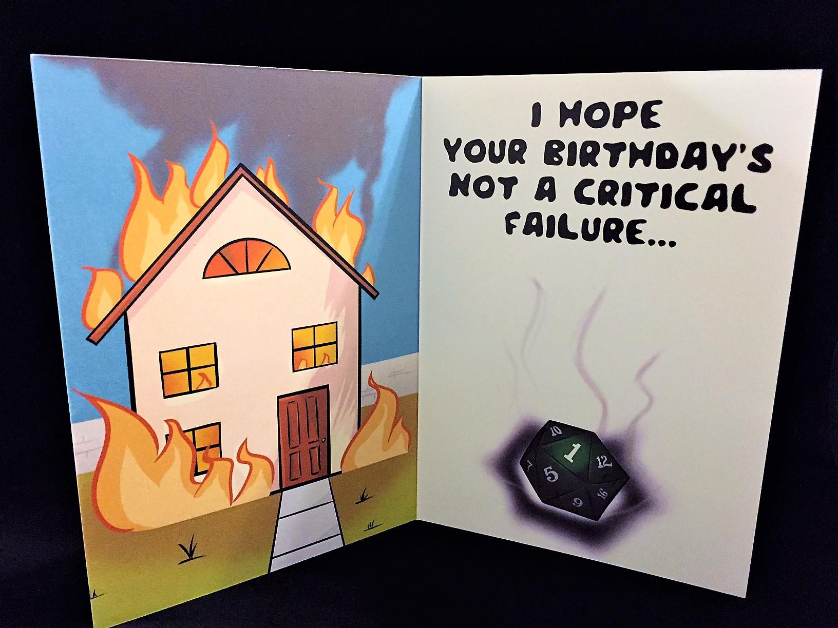 D D Birthday Card