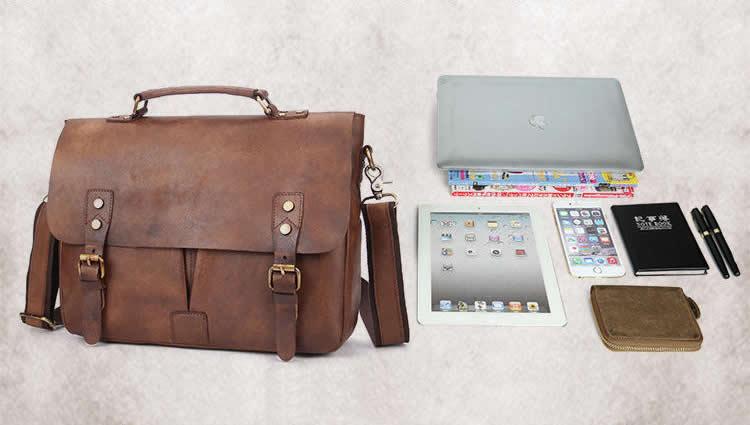 11de45760 ... Handmade Vintage Leather Briefcase / Leather Messenger Bag / 11