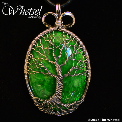 Sterling Amp Fine Silver Wire Wrap Tree Of Life Pendant