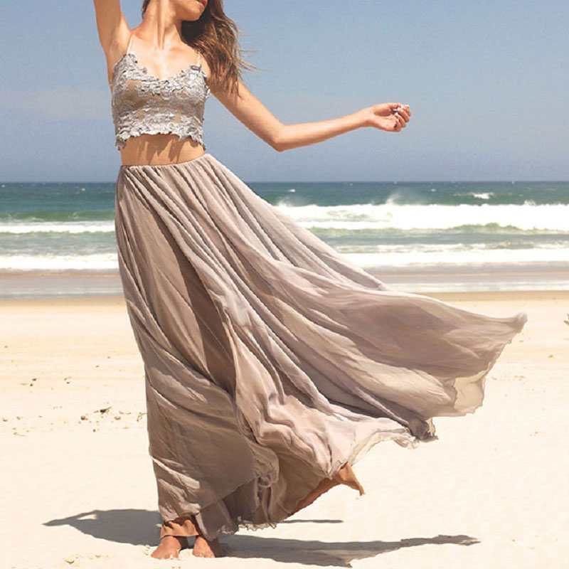 7a523c1619 Beach grey prom dress