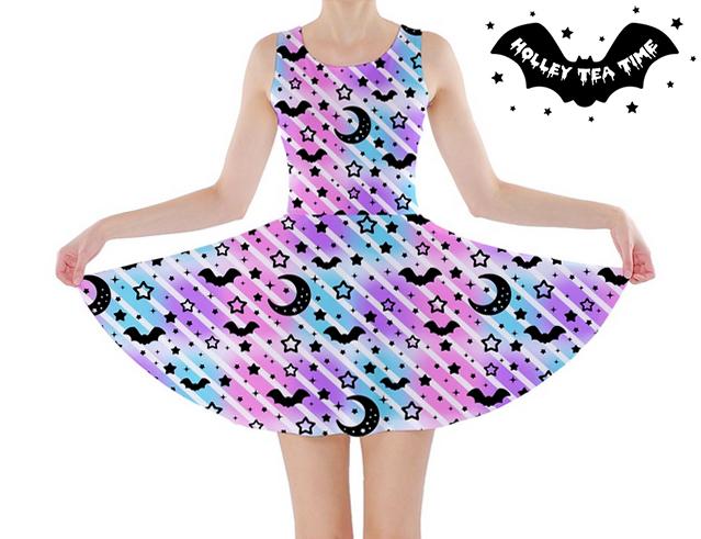 8c1dab7e7abe Creepy Cute Stripes Skater Dress ☆ Made To Order ☆ Pastel Goth, Spooky,