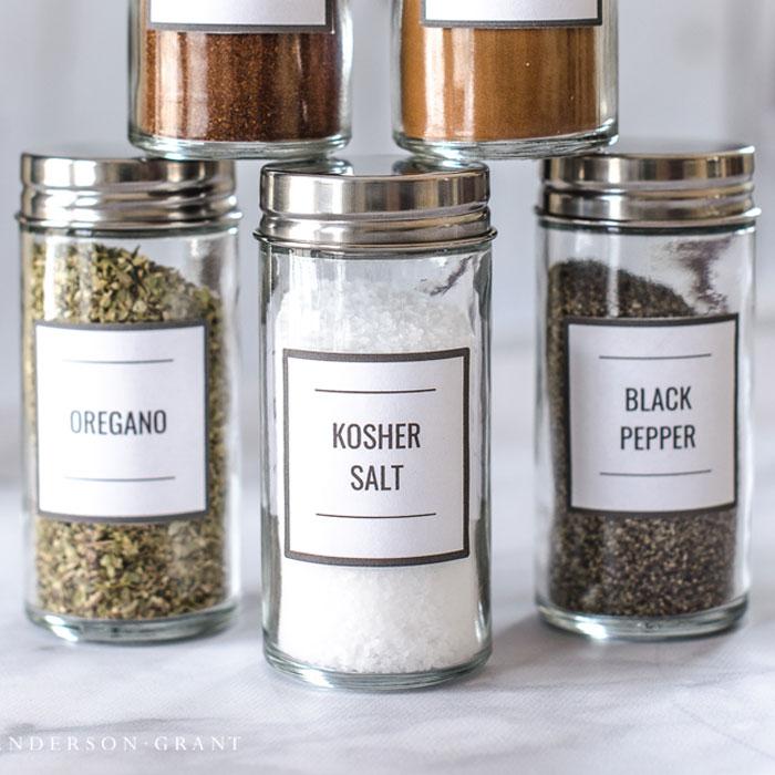clean simple custom spice jar labels on storenvy