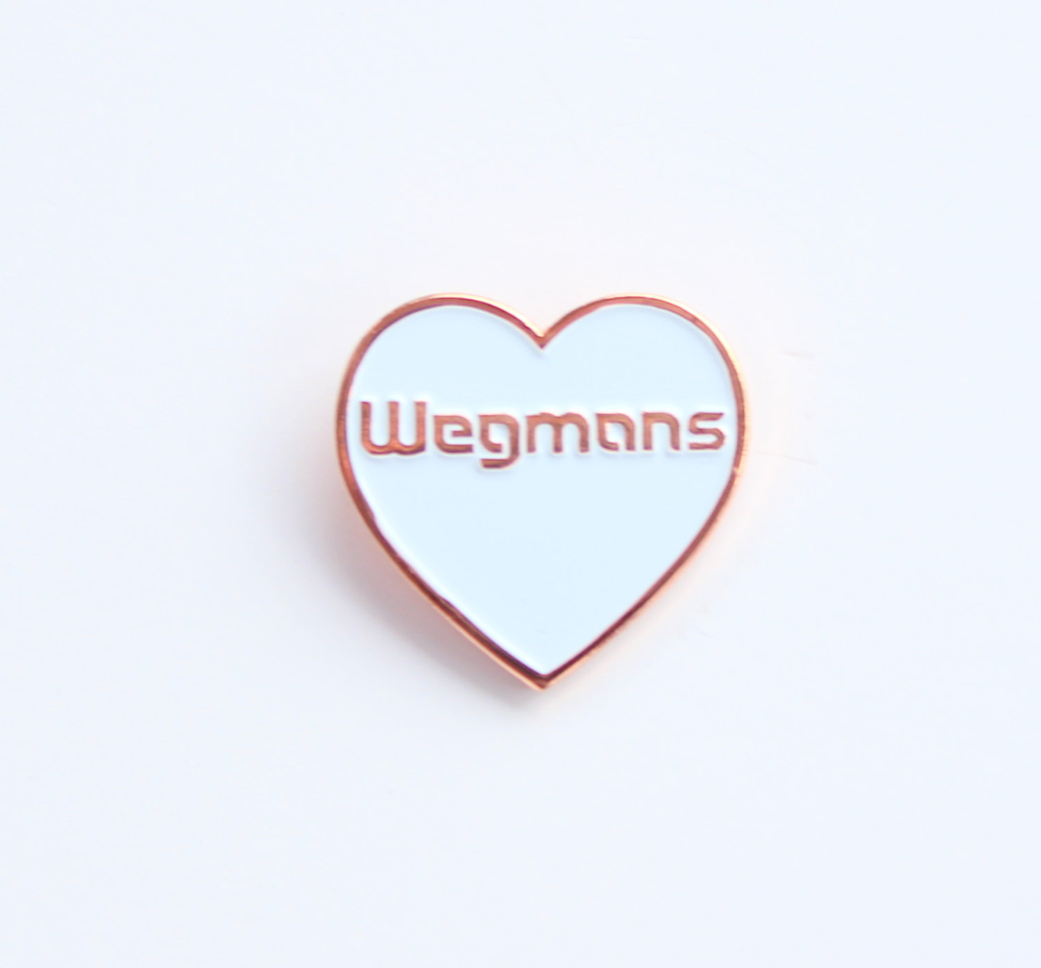 Wegmans is my True Love Lapel Pin - 1 inch soft enamel, funny, Western NY,  white rose gold from The Silver Spider Print Shop