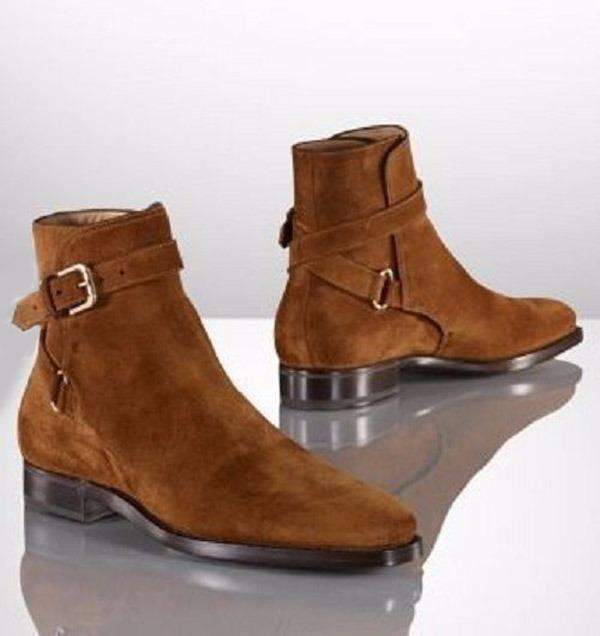 9b7dbcfa2c4 Handmade Men Brown Jodhpurs Ankle Boot, Men Genuine Suede Boots, Mens Boot