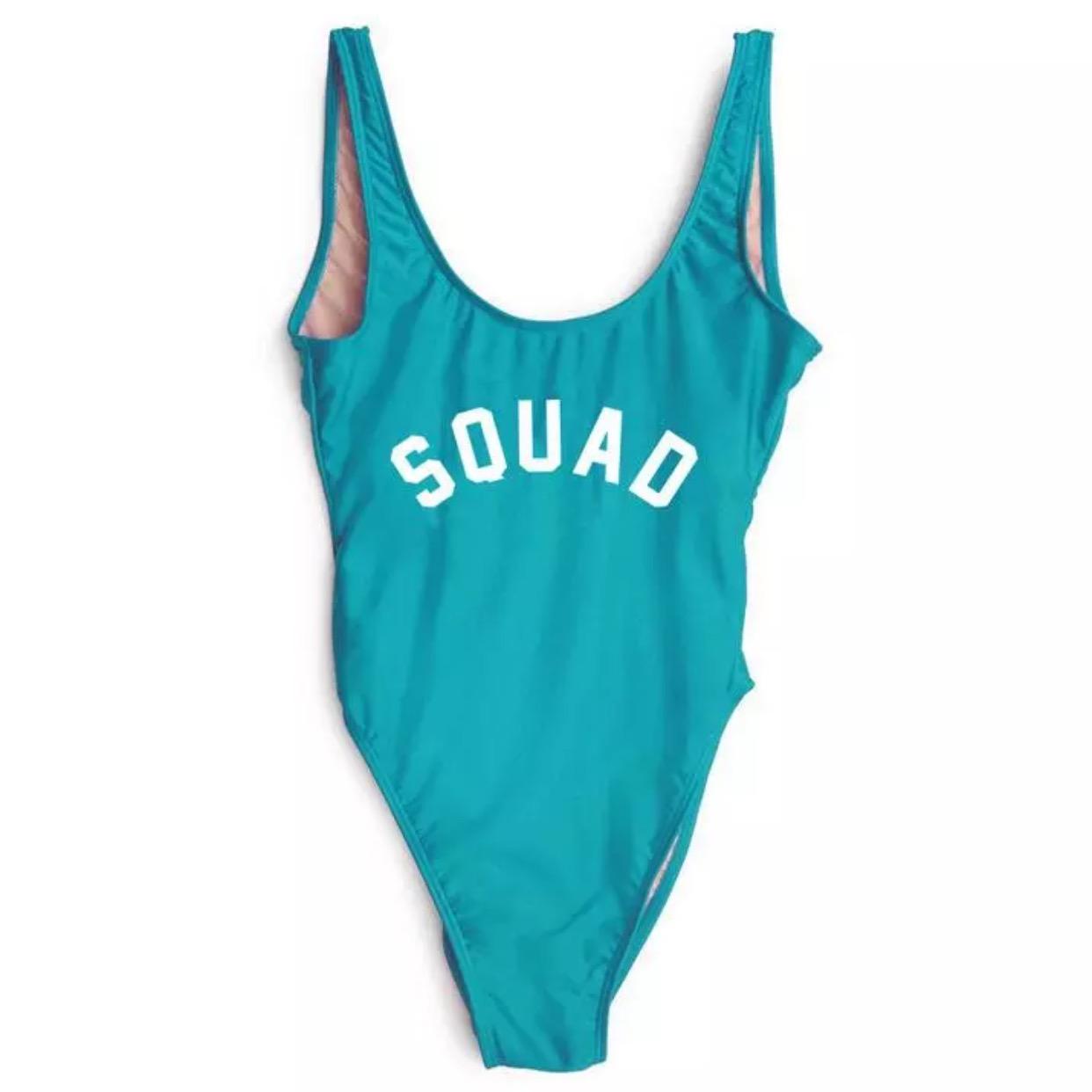 4594f85677 SQUAD One Piece Swimsuit Bathing Suit Monokini Bodysuit Bikini - Thumbnail 1  ...