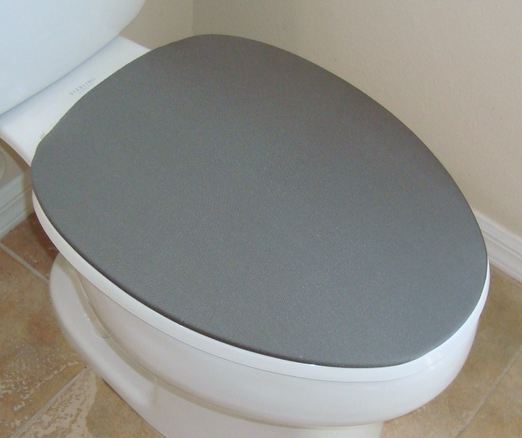 Cover Lid for toilet seat Color Gray - Fits on standard / elongated ...
