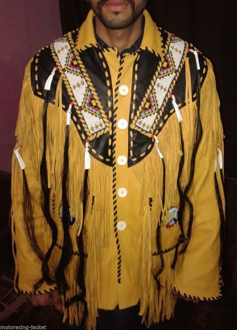 Western Fringed Buckskin Native American Indian Fringe