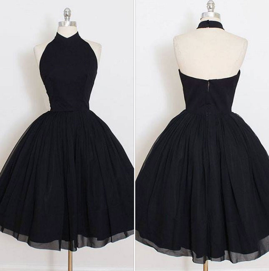 d7a3febea6c Cute black short prom dress
