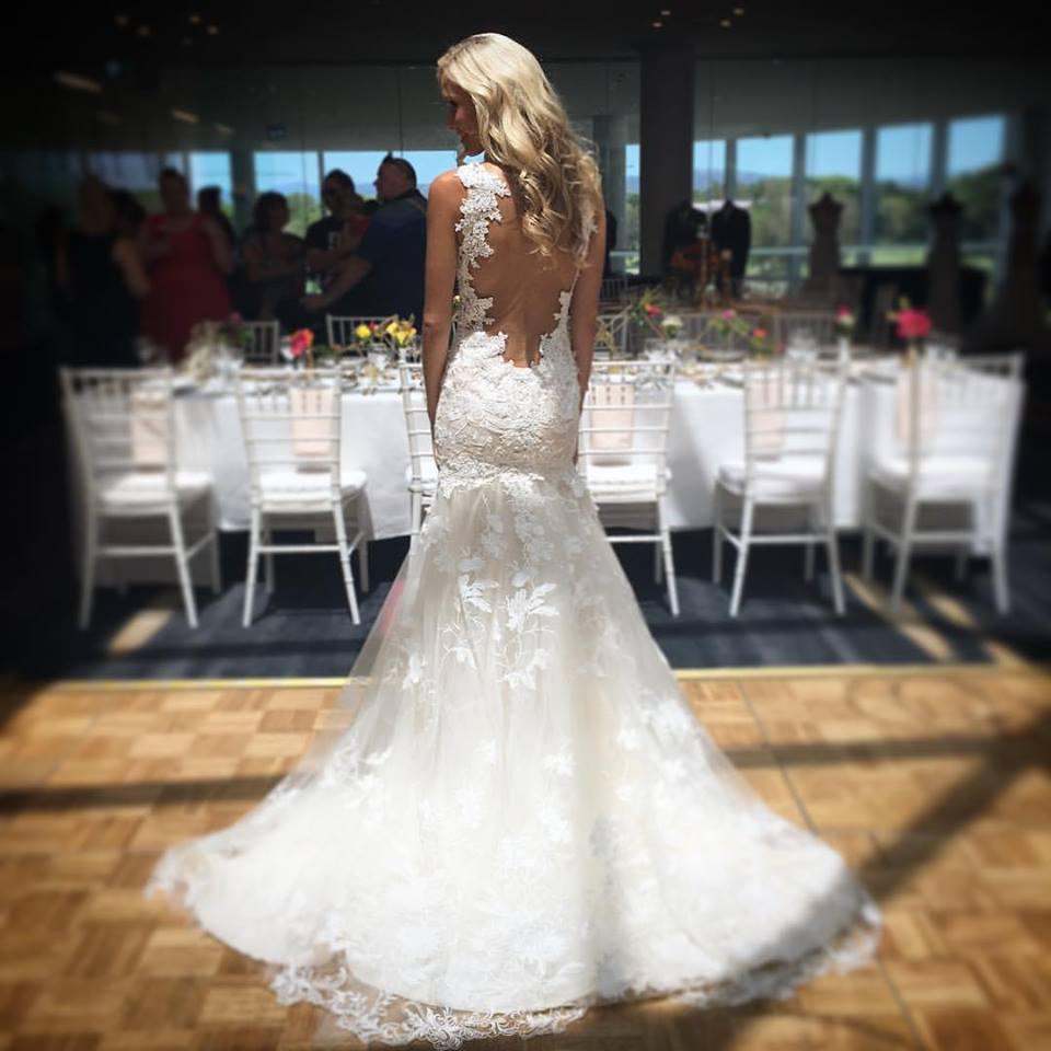 Spaghetti Strap Sheath Lace Wedding Dresses,Open Back