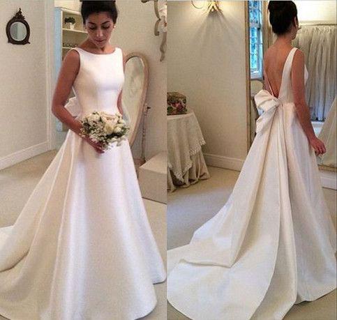Classic Wedding Dress, Satin Wedding Dresses, A Line Wedding Dress ...