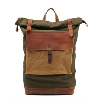 986612b683aa Leather Backpack   Waxed Canvas Backpack   Waxed Canvas Rucksack ...