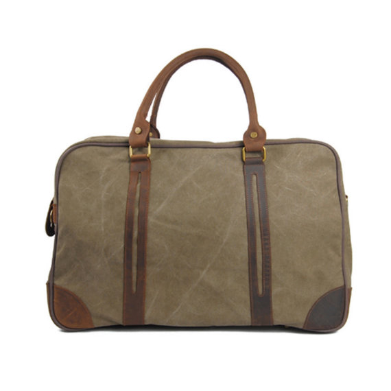 8bcca468fd37 Waxed Canvas Duffle Bag   Weekend Bag   Duffel Bag Men   Men Duffle Bag