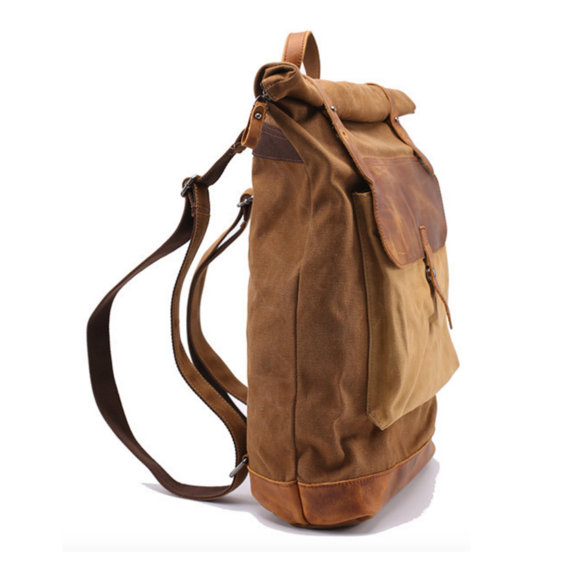 Leather Backpack Waxed Canvas Backpack Waxed Canvas
