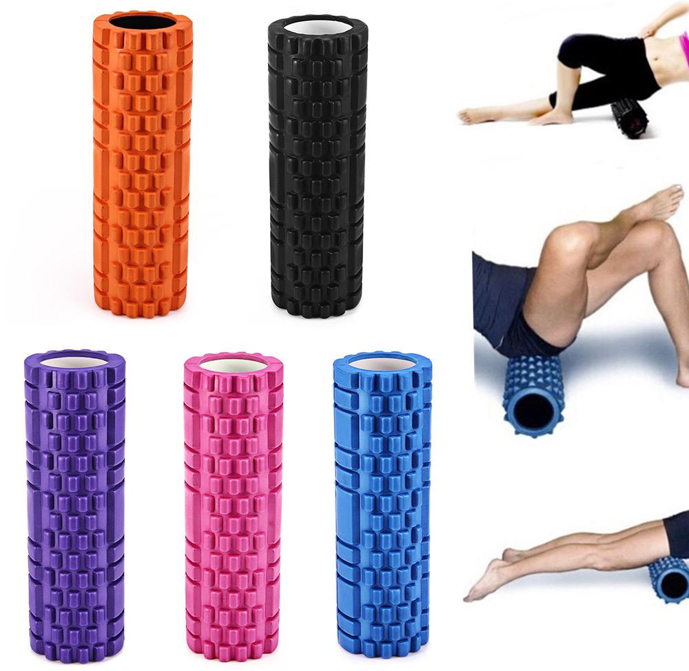 High Density Yoga Foam Roller Pilates Gym Exercise Trigger Back Muscle Massage