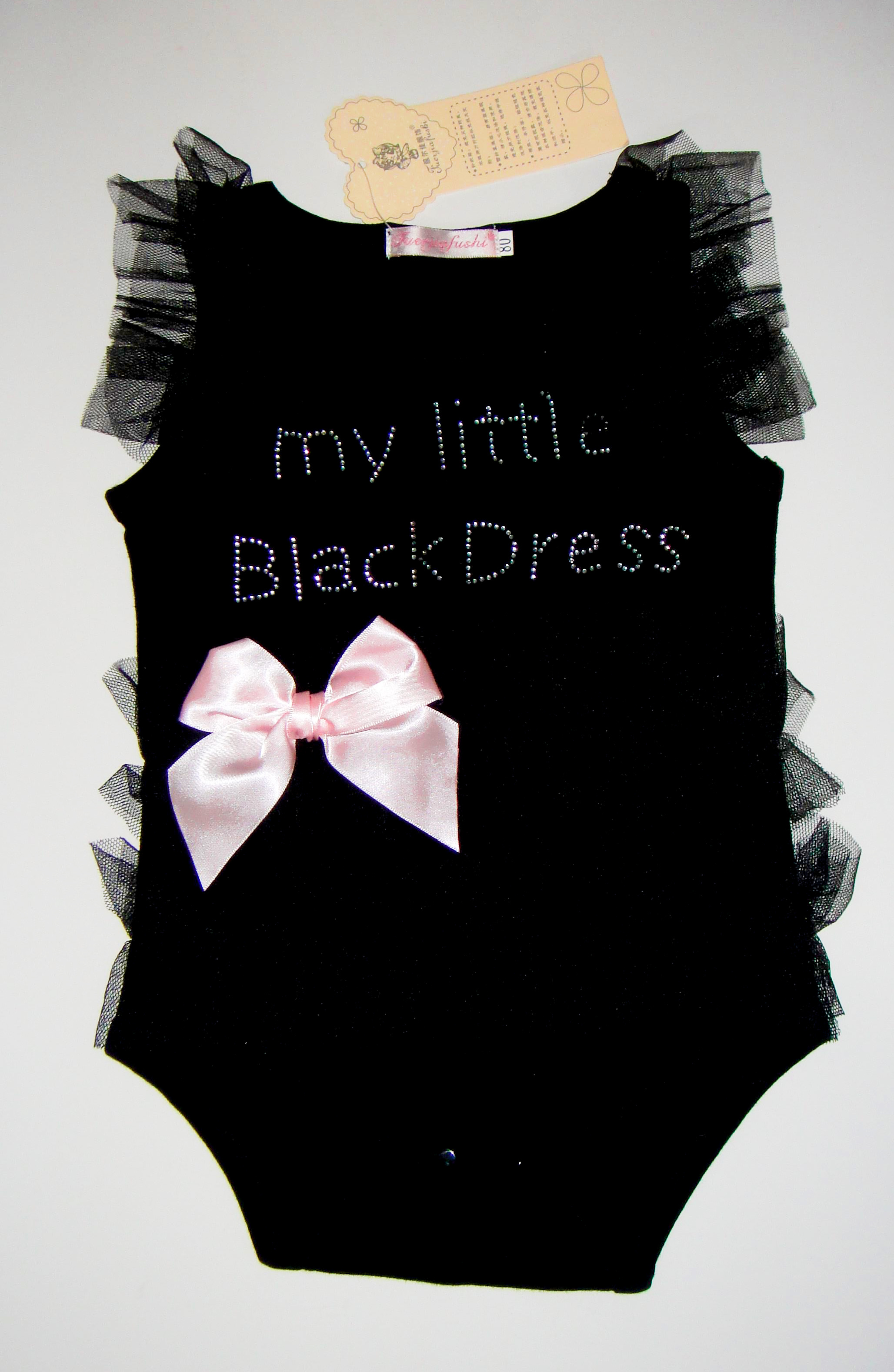 657b906fe58 GIRLS BABY ROMPER MY LITTLE BLACK DRESS SIZE 6-12 MONTH TUTU ONE PIECE