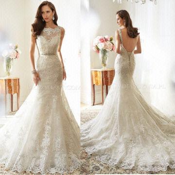 H266 Open Back Lace Weding Dress, Mermaid Wedding Dresses, 2017 ...