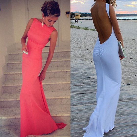 3c14ed155f4 Sleeveless bateau prom dresses coral prom dresses with sexy open back  backless long prom dress 02016324