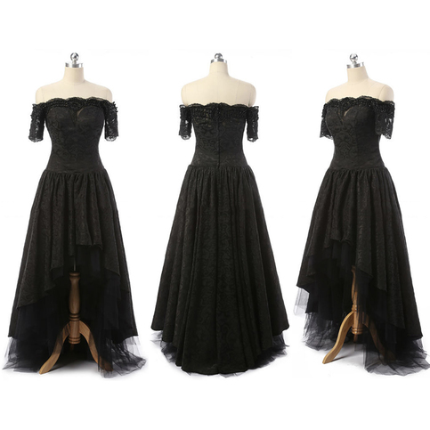 Off The Shoulder High Low Prom Dresses Asymmetrical