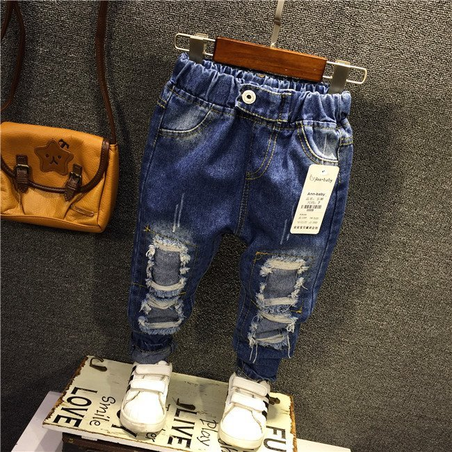 f27e39dca Knee Ripped Kids Jeans Fashionable Boys Girls on Storenvy